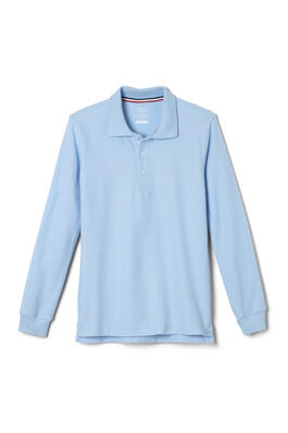 Product Image with Product code 1009,name  Long Sleeve Pique Polo   color BLUE