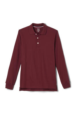 Product Image with Product code 1009,name  Long Sleeve Pique Polo   color BURG