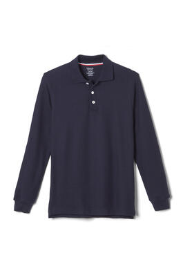 Product Image with Product code 1009,name  Long Sleeve Pique Polo   color NAVY