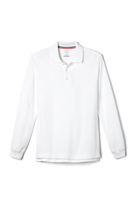 Product Image with Product code 1009,name  Long Sleeve Pique Polo   color WHIT