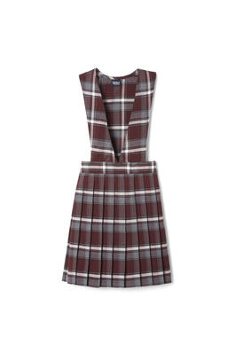 Product Image with Product code 1047,name  V-Neck Pleated Plaid Jumper   color BRGP