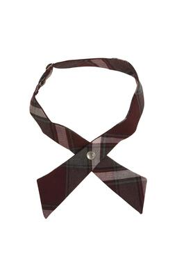 Product Image with Product code 10754,name  Adjustable Plaid Cross Tie   color BRGP