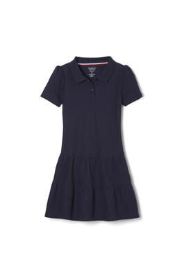 Product Image with Product code 1354,name  Ruffled Pique Polo Dress   color NAVY