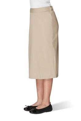 Product Image with Product code 1373,name  Long Skirt with Back Panel   color KHAK