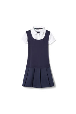 Product Image with Product code 1451,name  2-in-1 Pleated Dress   color NAVY