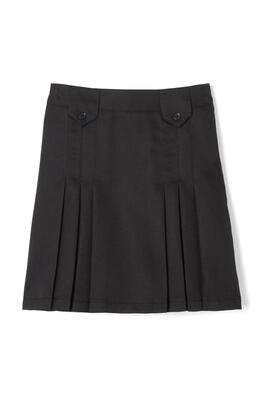 Product Image with Product code 1455,name  Front Pleated Skirt with Tabs   color BLAC