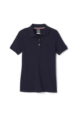 Product Image with Product code 1467,name  Short Sleeve Interlock Polo with Picot Collar (Feminine Fit)   color NAVY