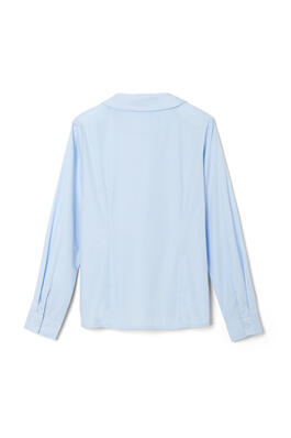 of Long Sleeve Modern Peter Pan Blouse