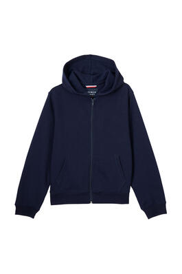 Product Image with Product code 1604,name  Fleece Hooded Sweatshirt   color NAVY