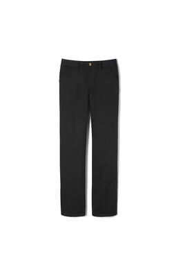 Product Image with Product code 1693,name  New! Girls Straight Leg Twill Pull-on Pant   color BLAC