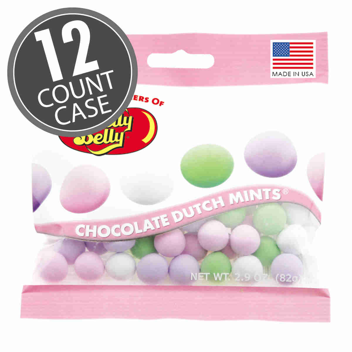 Chocolate Dutch Mints® - Assorted - 2.9 oz Bag - 12 Count Case