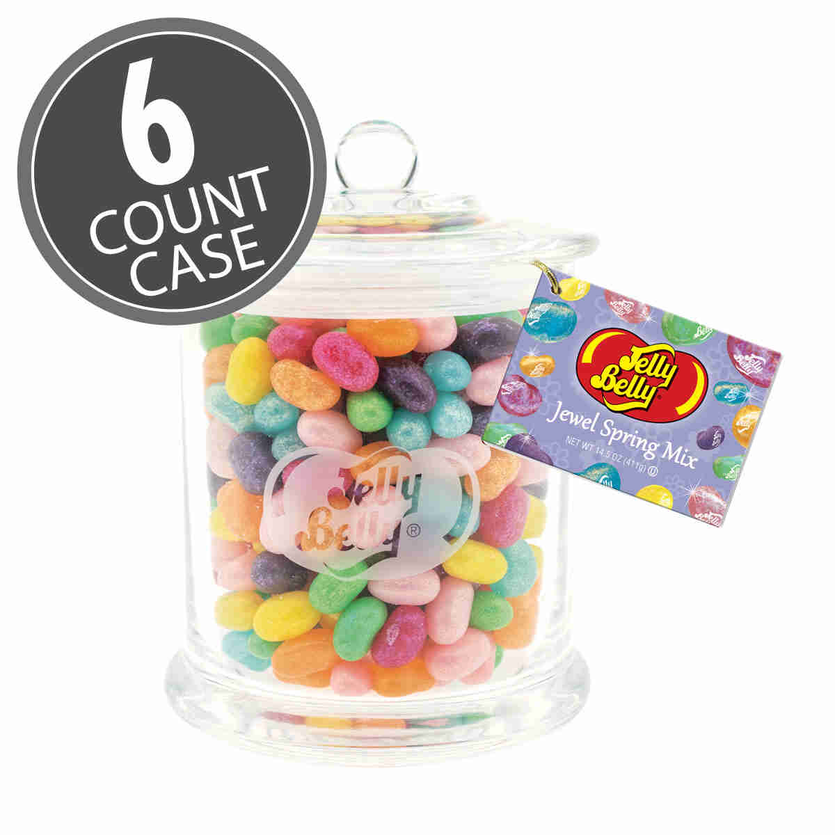 Jewel Spring Mix Glass Jar - 6 Count Case
