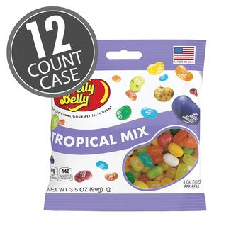Tropical Mix Jelly Beans - 3.5 oz Bag - 12 Count Case