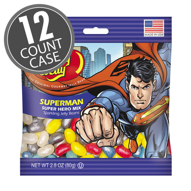 Superman™ Jelly Beans 2.8 oz Grab & Go® Bag - 12-Count Case