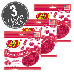 Pomegranate Jelly Beans - 3.5 oz Bags - 3 Pack