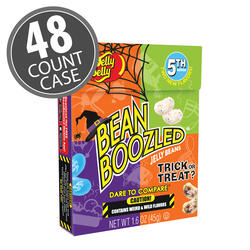 BeanBoozled Trick or Treat Jelly Beans 1.6 oz Flip Top Box (5th Edition), 48-Count Case