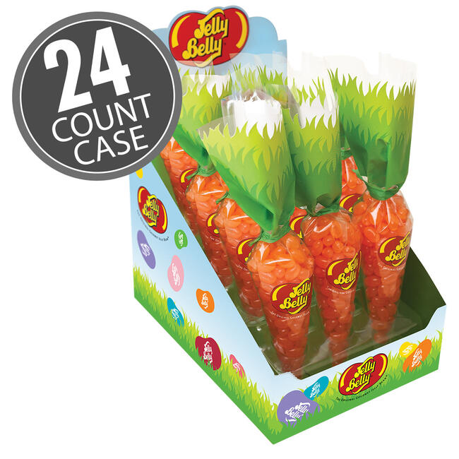 Jelly Belly Tangerine Baby Carrot Bag 24-Count Case