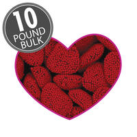 Red Raspberry Hearts - 10 lbs bulk