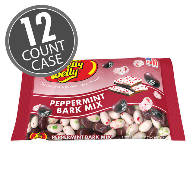 Jelly Belly Peppermint Bark Bag - 7.5 oz Gift Bags - 12 Count Case