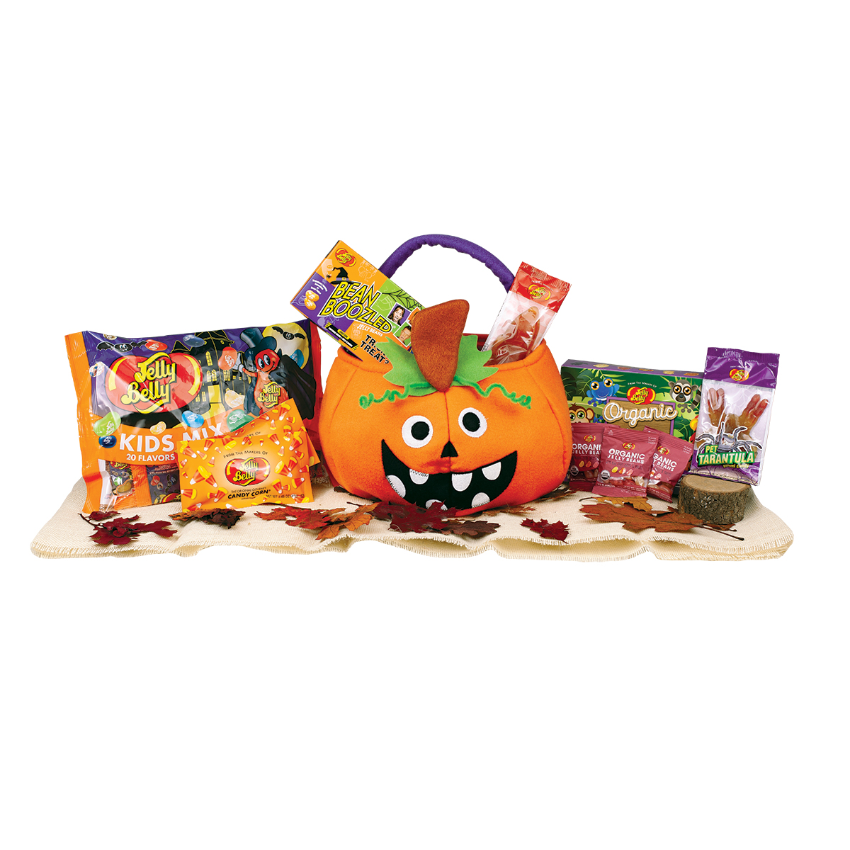 Wacky Pumpkin Halloween Goody Basket