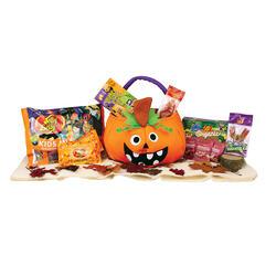 wacky pumpkin halloween goody basket