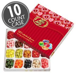 Jelly Belly 20-Flavor Valentine's Day Gift Box- 10-Count Case