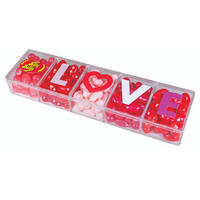 Jelly Belly LOVE Beans 4 oz Clear Gift Box