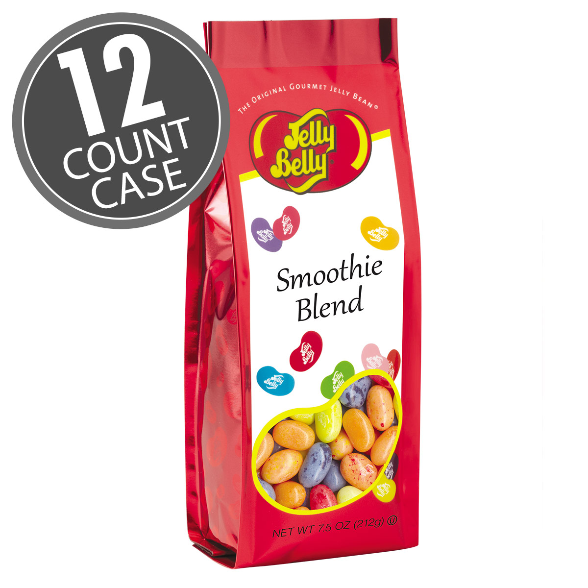 Smoothie Blend Jelly Beans - 7.5 oz Gift Bags - 12-Count Case