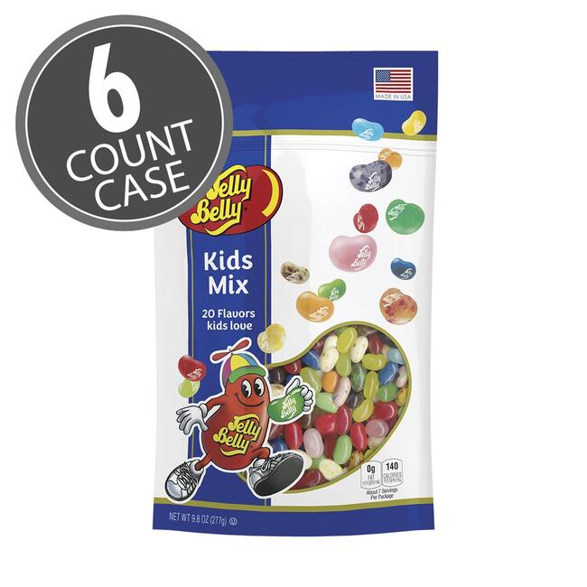 Kids Mix Jelly Beans - 9.8 oz Pouch Bags - 6 Count Case