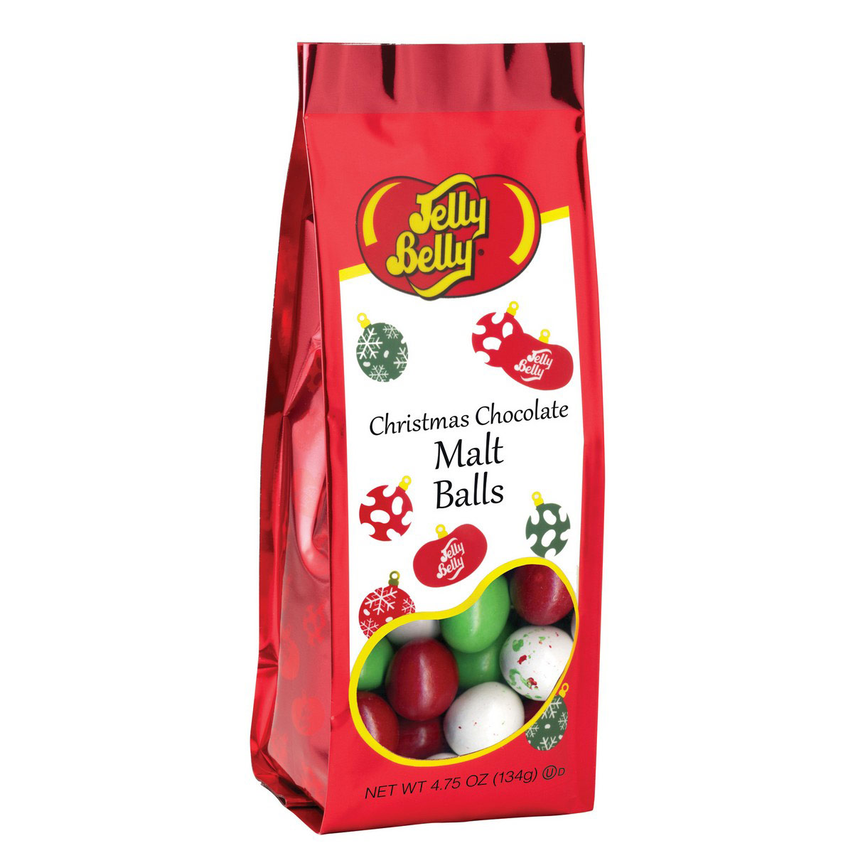 Christmas Chocolate Malt Balls - 4.75 oz Gift Bag