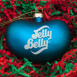 Jelly Belly Bean Ornament - Blue
