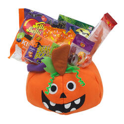 Halloween gift baskets halloween jelly beans and candy jelly wacky pumpkin halloween goody basket negle Image collections