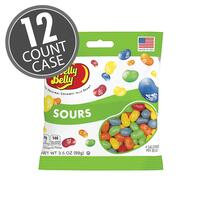 Sours Jelly Beans - 3.5 oz Bag - 12 Count Case