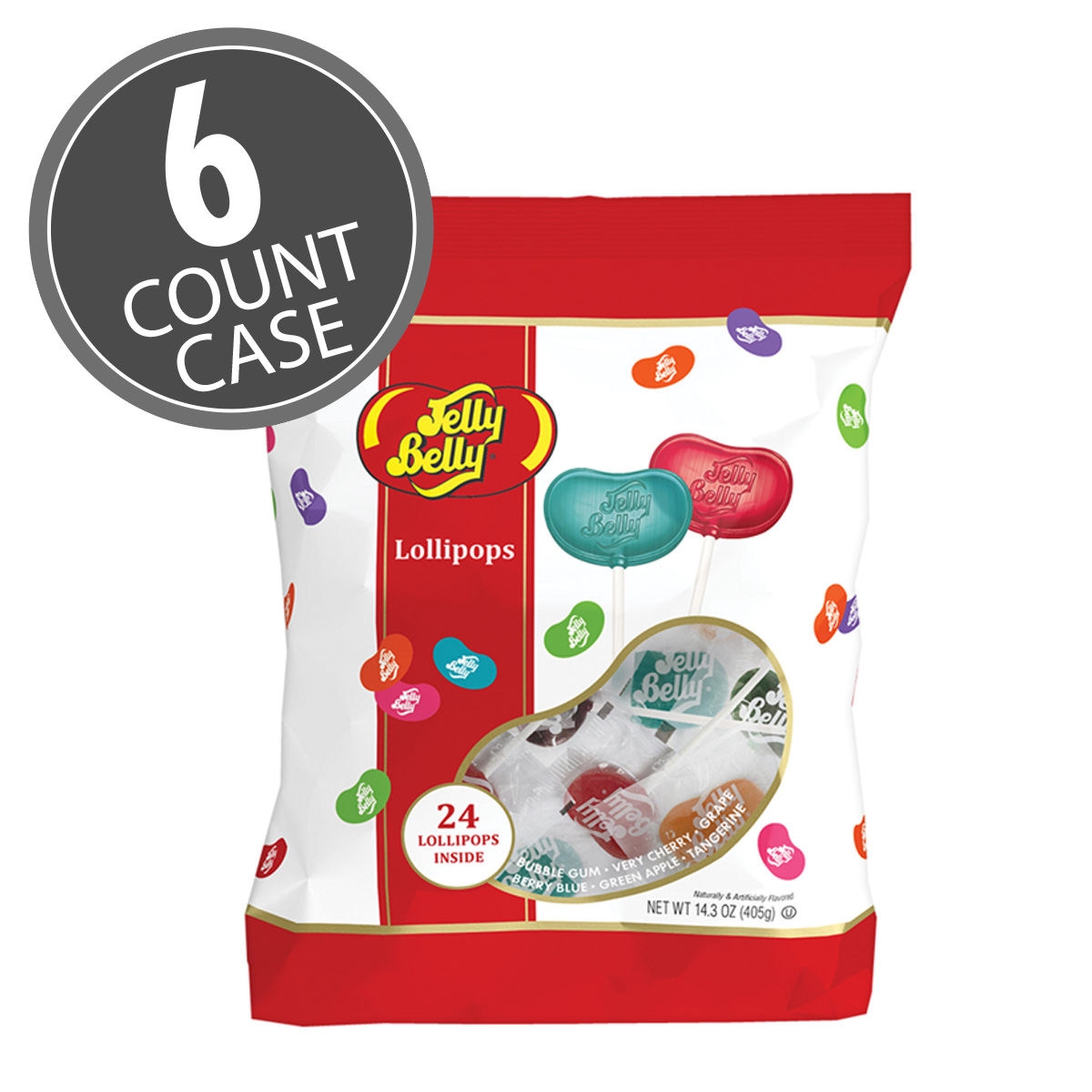 Jelly Belly Lollipop Pouch Bag, 6-Count Case