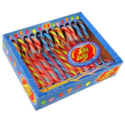 Jelly Belly Candy Canes - Tutti-Fruitti, Blueberry and Watermelon