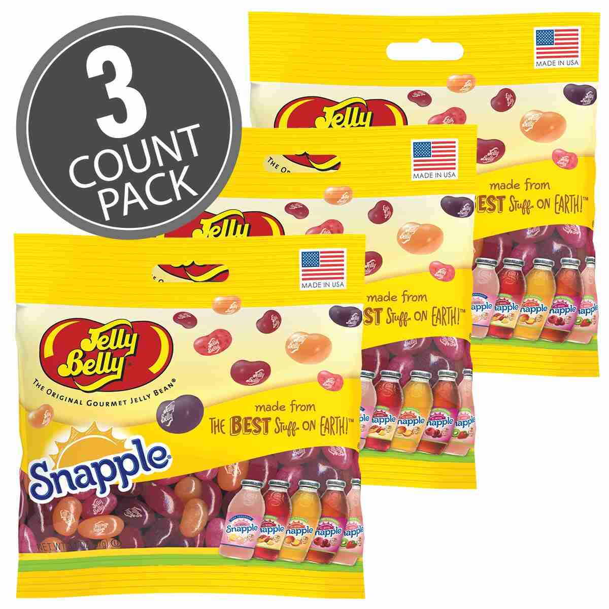 Snapple™ Mix Jelly Beans - 3.1 oz Bag - 3-Count Pack