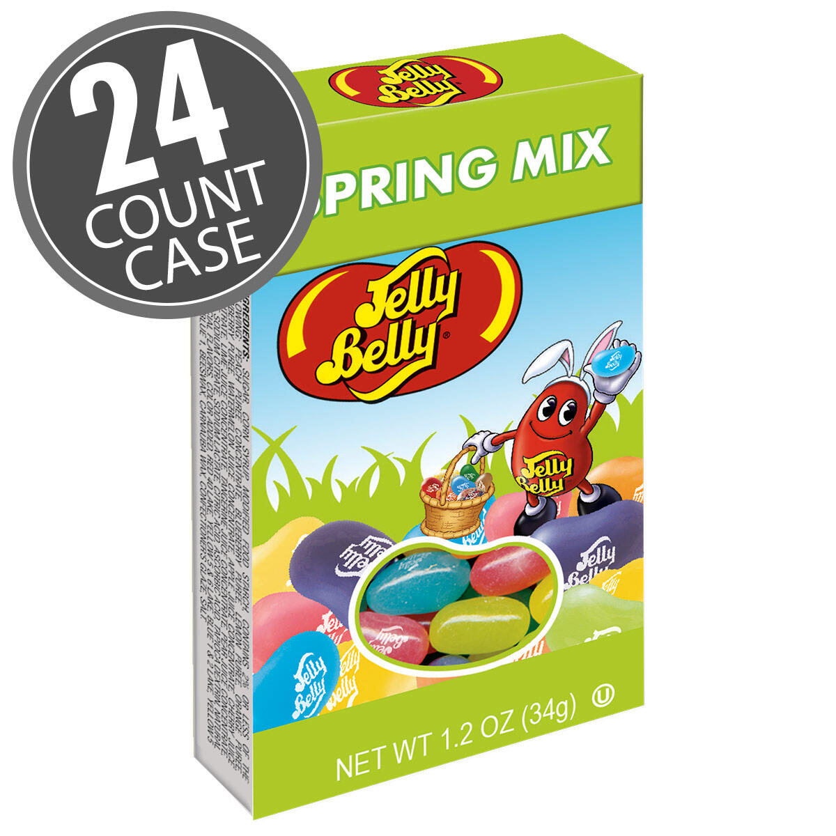 Jelly Belly Spring Mix - 1.2 oz Boxes - 24-Count Case