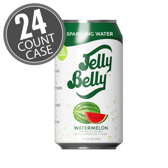 Jelly Belly Watermelon Sparkling Water - 24 Count Case