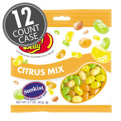 Sunkist® Citrus Mix Jelly Beans - 3.1 oz Bag - 12 Count Case