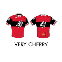 Jelly Belly Very Cherry Retro Cycling Jersey - Adult - XS