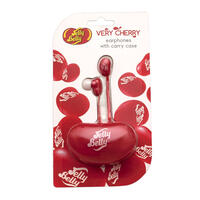 Jelly Belly Very Cherry Earphones with Carry Case