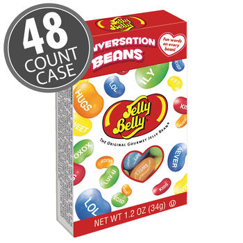 Jelly Belly Conversation Beans® - 1.2 oz flip top boxes - 48-Count Case
