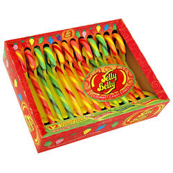 Jelly Belly Candy Canes - Very Cherry, Green Apple and Orange