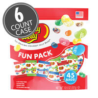 Jelly Belly Fun Pack - Assorted, Sours, Kids Mix 12.6 oz bag - 6 Count Case