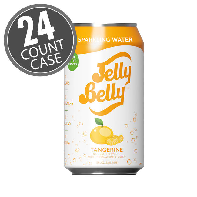 Jelly Belly Tangerine Sparkling Water - 24 Count Case
