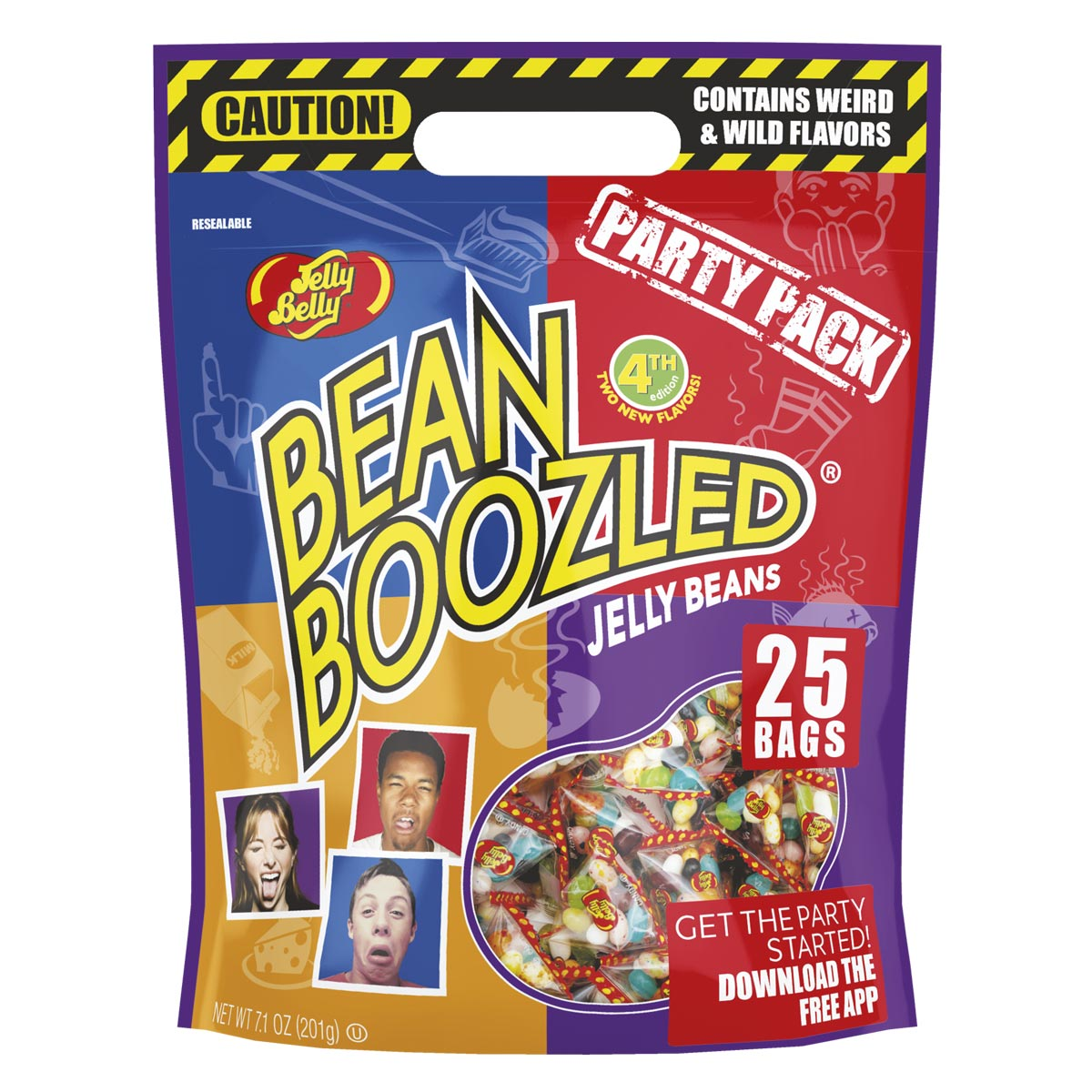 Beanboozled Party Pack Pouch Bag 4th Edition Jelly Belly Candy Bean Boozled Refill Harry Potter Spinner Dispenser Company