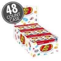 20 Assorted Jelly Bean Flavors - 1.2 oz Flip Top boxes 48-Count Case