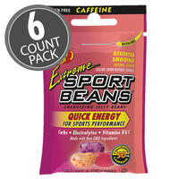 Extreme Sport Beans® Jelly Beans with CAFFEINE -  Assorted Smoothie Flavors, 6-Count Pack