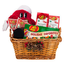 Classic Pinecone Christmas Holiday Gift Basket