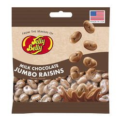 Milk Chocolate Jumbo Raisins  - 2.5 oz Bags